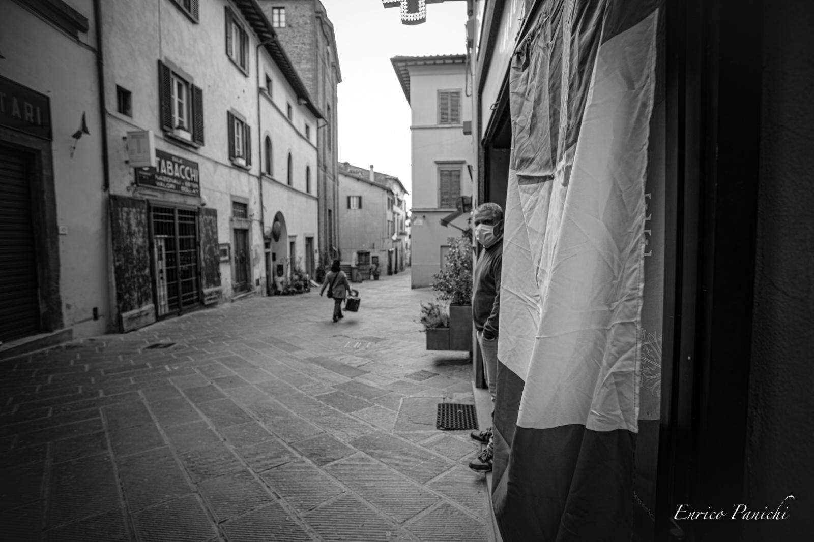 Aprile 2020 castiglion Fiorentino  - Un piccolo Tours durante i giorni del lockdown nel paese deserto