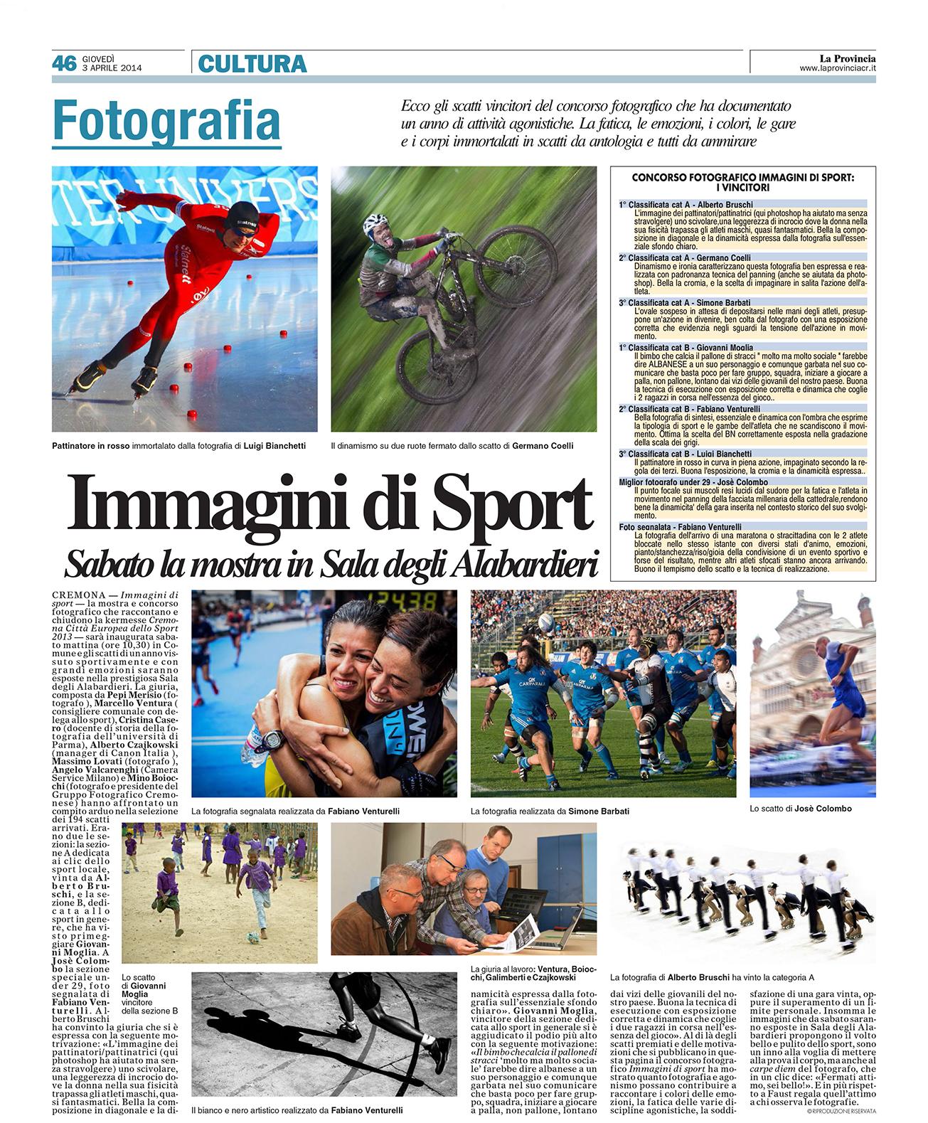 """Concorso """" Immagini di Sport """""""