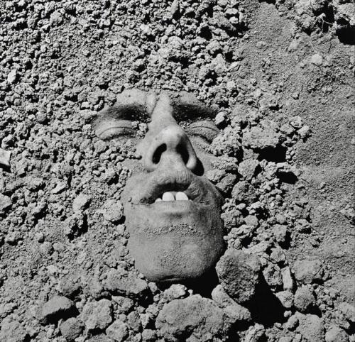 David Wojnarowicz:  Untitled (Face in Dirt), 1990